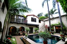 The home is entered through a central courtyard.