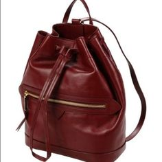 "FINAL PRICE✨Rochas Karina backpack in Maroon Composition: Calfskin Details: solid color, logo detail, drawstring closure, lined interior, medium Measurements: Depth: 4.29 inches Height: 11.31 inches Width: 9.36 inches New with dust bag. All ""FINAL SALE"" items are at its final discount. I will have to respectfully decline all offers. Thank you for looking!! (Pink and black color not available for sale) Rochas Bags Backpacks"