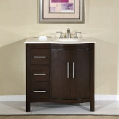 Images On  Inch Modern Bathroom Vanity Set w Drop In Sink eFurniture Mart Pinterest Inches Bathroom vanities and Vanities