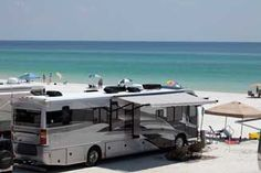 Love this place!   Can park your Rig right on the beach!  Camp on the Gulf in Destin, FL