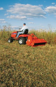 Lawn tractor attachments can make lawn care  easier.