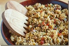 summer sauceless pasta (vegetarian)