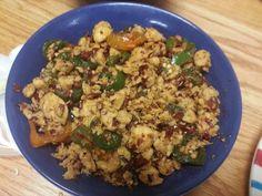 chicken with peper+chili source