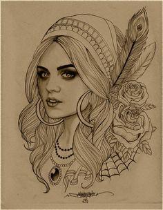 Gypsy print by b2rianls on Etsy, $12.00