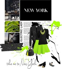 Designer Clothes, Shoes & Bags for Women New York, Neon, My Style, Lady, Polyvore, Stuff To Buy, Scrapbooks, Shopping, Collection