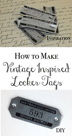DIY Vintage Locker Tags (And A Crafty Giveaway!)  via TheKimSixFix.com