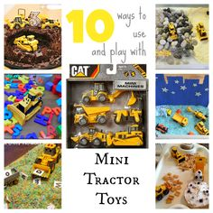 10 Ways to Use and Play with Mini Tractor Toys