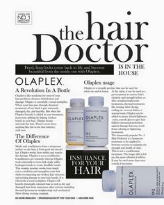Olaplex - The best thing I've EVER used on my hair. Strongly recommend :D