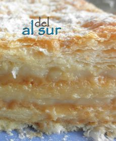 Alsurdelsur: Hojaldre con crema pastelera Chilean Recipes, Pan Dulce, Cookie Box, Sweet And Salty, Aficionados, Vanilla Cake, Fudge, Mexican Food Recipes, Bakery