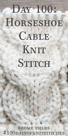 Day Learn How To Knit The Horseshoe Cable Knit Stitch & tag lernen sie, wie man den hufeisen-zopfmusterstich strickt & journée apprenez à tricoter la maille torsadée en fer à cheval Cable Knitting Patterns, Knitting Videos, Easy Knitting, Knitting For Beginners, Knitting Stitches, Knitting Designs, Knitting Tutorials, Crochet Patterns, Loom Knitting