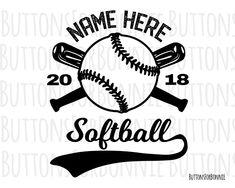 Softball svg, baseball svg, vector, swoosh, cutting file