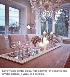 Dining room table decorations you'll want to leave up all spring along to elevate your dining room decor Diy Casa, Table Centers, Center Table, Deco Table, Home Decor Inspiration, Design Inspiration, Sweet Home, House Design, Table Decorations