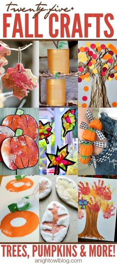 Fall crafts from A Night Owl Blog! Love the stuff they have.