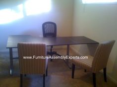 ikea effektiv Corner Desk assembled in Arlington VA by Furniture Assembly Experts company
