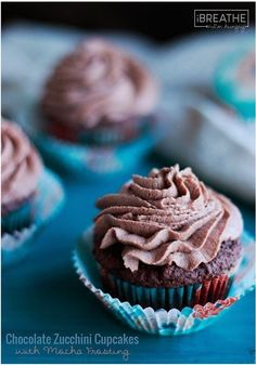 These delicious low carb Chocolate Zucchini Cupcakes with Mocha Frosting are rich and fluffy perfection! Gluten free, keto and Atkins friendly too! Use a full stick of butter! Low Carb Deserts, Low Carb Sweets, Profiteroles, Atkins Recipes, Low Carb Recipes, Paleo Recipes, Free Recipes, Churros, Sugar Free Desserts