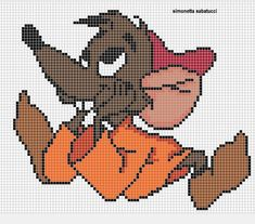 Pokemon Cross Stitch, Cross Stitch Bookmarks, Beaded Cross Stitch, Cross Stitch Embroidery, Hama Beads Patterns, Beading Patterns, Disney Quilt, C2c Crochet Blanket, Minnie Baby