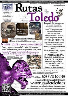 """Gran estreno de ruta: """"Toledo Siniestro"""" Haunted Places, Paths"""