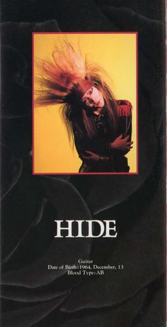 Hideto Matsumoto (hide X Japan) =Life Of A Shooting Star =: ENDLESS RAIN...First Press Release  If it ever exi...