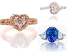 Express Your Love with Coloured #Diamond #Rings