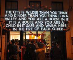 ROBERT MONTGOMERY http://www.widewalls.ch/artist/robert-montgomery/ #conceptual #art #installation #street #art