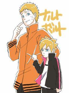 This the cutest picture between naruto and boruto Anime Naruto, Manga Anime, Naruto Fan Art, Naruto Cute, Naruto And Hinata, Naruto Shippuden, Kakashi, Sasunaru, Naruhina