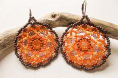 Chaco Canyon at Sunrise mandala earrings by GlowingHeartStudios, $17.00