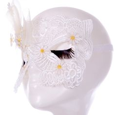 Amazon.com: Bestwoohome Hollow Lace Eye Mask Veil with Small Flowers for…