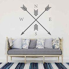 BATTOO Arrow Compass Wall Decal - Arrow Wall Art - Would look so cool on my new mint green studio wall {aff link}