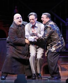 set from the addams family musical | the music is serviceable but unmemorable and the sets hint