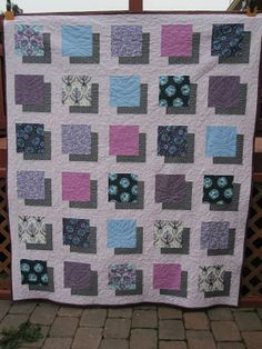 3D quilt tutorial. Fabulous and very fun quilt! Perhaps add pictures of family tree in the squares.