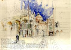 Sketching Architecture with watercolor