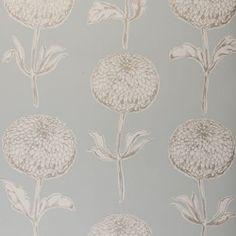 Clarke & Clarke - Dahlia Double Roll Wallpaper in Sky