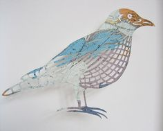 intricate and detailed birds from vintage ordnance survey maps from NW Scotland.