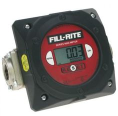 "Fill-Rite 900 Series 1½"" Digital Meter  Electronic Meter. 1.5"" BSPF ports, 25-150L/min max. flow rate, 4 digit register and 7 digit totaliser.  - Only suitable with diesel or biodiesel up to B20. - Robust nutating disc flow meter, shows up to 9999 litres. - 25 - 150L/min. 1.5"" BSPF ports. Weight 2.9kg. - Max. pressure 50 psi (3.5 bar). Aluminium housing. - Accuracy +/- 1.25% (must be calibrated on site before use). - Electronic display with 4 digit register. 7 digit totaliser."
