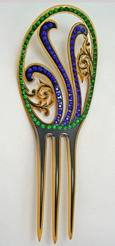 Hair Comb – Art Deco Fanciful Form
