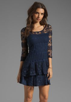 ELLA MOSS Kayte Lace Dress in Midnight