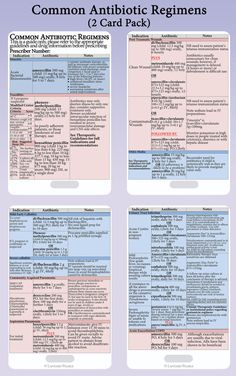 Medical Nursing Reference Cards Antibiotic by LanyardPearls