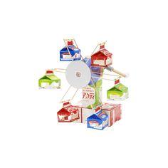 中観覧車(ちゅうかんらんしゃ)|簡単!牛乳パックで作ろう 楽しい工作|雪印メグミルク株式会社 Projects For Kids, Diy For Kids, Crafts For Kids, Recycled Crafts, Diy And Crafts, Cardboard Toys, Upcycle, Recycling, Miniatures