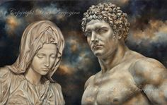 """New Scan of """"Forgiveness"""" Art By Dina Perejogina🥰. As it's oils it taken couple of different places to try out for scanning, hopefully to preserve depth of dark colours and vibrancy. 🤔 I do like both scan options previous and this one, can't wait to check print after varnishing. #fineartprint #classicart #oiloncanvas #pietre #fineartpainting Oil On Canvas, Canvas Prints, Classical Art, Dark Colors, Colours, Prints For Sale, Cotton Canvas, Fine Art Prints, Bridge Pattern"""