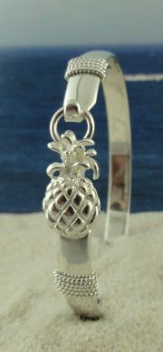Sterling Silver Pineapple Bracelet that is Wide! Great detail on this bracelet. Silver Bangles, Sterling Silver Bracelets, Silver Earrings, Jewelry Bracelets, Silver Ring, Bracelet Charms, Ankle Bracelets, Jewellery, Pineapple Jewelry