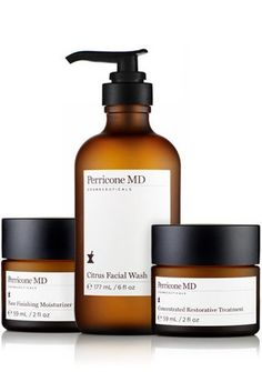 Perricone MD Sun Damage / Brightness Prescription by Perricone MD. $169.00. Three highly effective products to address sun damage and dull skin.  Citrus Facial Wash  - This Vitamin C Ester enhanced facial wash is non-drying, removing impurities, debris and makeup. The Vitamin C Ester in this mild, non-drying formula helps prevent the appearance of redness and blotchiness, sometimes associated with the use of harsh cleansers. The anti-aging cleanser helps improve ...