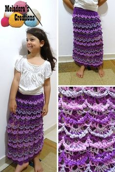 Picot Shell Skirt – Free Crochet Pattern & video tutorials by Meladora's Creations