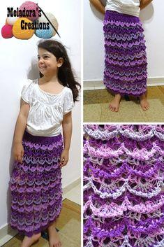 Picot Shell Skirt – Free Crochet Pattern & video tutorials by Meladora's Creations