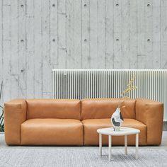 MAGS SOFA SOFT, módulos de cuero de anilina, costuras invertidas, crear su propio sofa, HAY