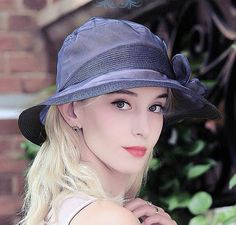 Fashion flower silk hat for lady wide brim uv sun protection hats package design
