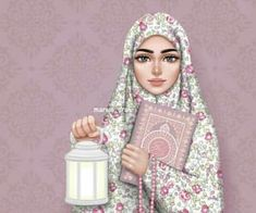 335 images about Muñecas Hermosas♡ on We Heart It See more girly_m hijab ramadan - Hijab Hijabi Girl, Girl Hijab, Muslim Girls, Muslim Women, Art And Illustration, Landscape Illustration, Sarra Art, Hijab Drawing, Islamic Cartoon