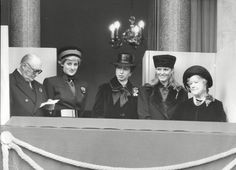 Princess Diana (second left) alongside other members of the Royal Family on Remembrance Day back in 1986: Their intimate secrets, Paul Burrell wrote in letters sold tomorrow, should not be revealed