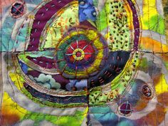 Ro Bruhn - mixed-media mini quilt by ro_bruhn, via Flickr