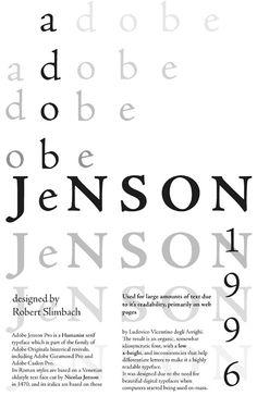 Resultado de imagen de especimen tipografico jenson