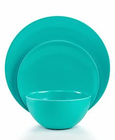 QSquared Dinnerware, Colorado Blue Solid Melamine Collection - Casual Dinnerware - Dining & Entertaining - Macy's